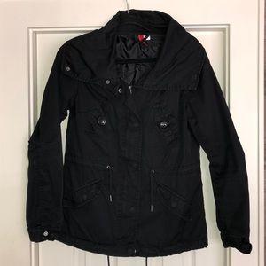 Divided Black Utility Jacket Unlined
